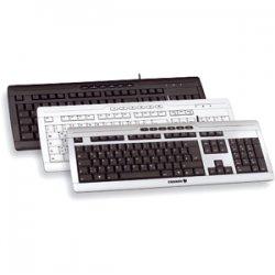 Cherry - G85-23100EU-2 - Cherry eVolution STREAM XT Corded Multimedia Keyboard - PS/2, USB - 104 Keys - Black - English (US)
