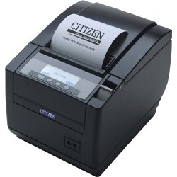 Citizen - CT-S801S3RSUBKP - Citizen CT-S801 POS Thermal Receipt Printer - Monochrome - 300 mm/s Mono - 203 dpi - Serial