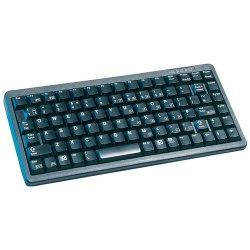 Cherry - G84-4100LCMUS-2 - Cherry G84-4100 Ultraslim Keyboard - PS/2, USB - QWERTY - 86 Keys - Black