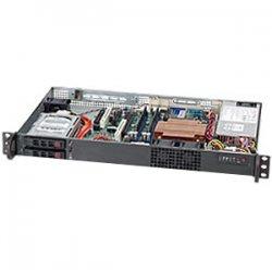 Supermicro - CSE-510T-200B - Supermicro SC510T-200B Chassis - 1U - Rack-mountable - 2 Bays - 200W - Black