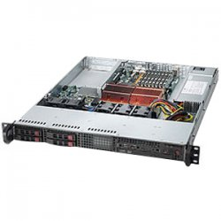 Supermicro - CSE-111T-560CB - Supermicro SC111T-560CB Chassis - 1U - Rack-mountable - 5 Bays - 500W - Black