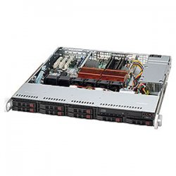 Supermicro - CSE-113MTQ-560CB - Supermicro SC113MTQ-560CB Chassis - 1U - Rack-mountable - 9 Bays - 560W - Black