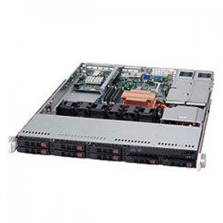 Supermicro - CSE-113TQ-R650CB - Supermicro SC113TQ-R650CB Chassis - 1U - Rack-mountable - 9 Bays - 650W - Black