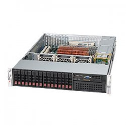 Supermicro - CSE-213A-R900LPB - Supermicro SC213A-R900LPB Chassis - 2U - Rack-mountable - 17 Bays - 900W - Black