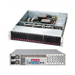 Supermicro - CSE-216A-R900LPB - Supermicro SC216A-R900LPB Chassis - 2U - Rack-mountable - 24 Bays - 900W - Black