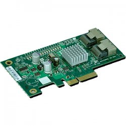 Supermicro - AOC-SASLP-MV8 - Supermicro AOC-SASLP-MV8 8-Ports SAS RAID Controller - PCI Express x4 - 300MBps Per Channel - 2 x SFF-8087 - Serial Attached SCSI