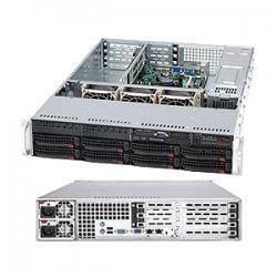 Supermicro - CSE-825TQ-R720UB - Supermicro SuperChassis SC825TQ-R720UB Rackmount Enclosure - 2U - Rack-mountable - 12 Bays - 720W - Black