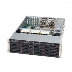 Supermicro - CSE-836A-R1200B - Supermicro SuperChassis SC836A-R1200B Rackmount Enclosure - 3U - Rack-mountable - 18 Bays - 1200W - Black