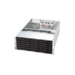 Supermicro - CSE-846A-R1200B - Supermicro SuperChassis SC846A-R1200B Rackmount Enclosure - 4U - Rack-mountable - 26 Bays - 1200W - Black
