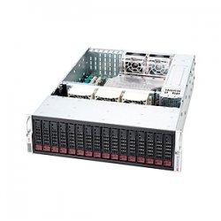 Supermicro - CSE-936A-R1200B - Supermicro SuperChassis 936A-R1200B Rackmount Enclosure - 3U - Rack-mountable - 16 Bays - 1200W - Black