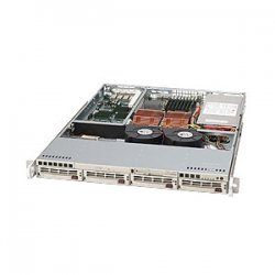 Supermicro - CSE-813TQ-520B - Supermicro SuperChassis 813TQ-520B Rackmount Enclosure - 1U - Rack-mountable - 4 Bays - 520W - Black