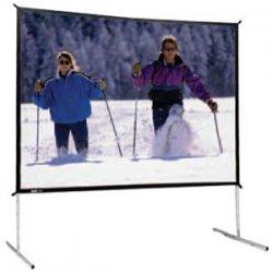 """Da-Lite - 88619 - Da-Lite Fast-Fold Deluxe Screen System - 108"""" x 144"""" - Da-Mat - 180"""" Diagonal"""