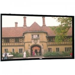 "Da-Lite - 87150V - Da-Lite Cinema Contour with Pro-Trim Fixed Frame Projection Screen - 45"" x 80"" - Da-Mat - 92"" Diagonal"