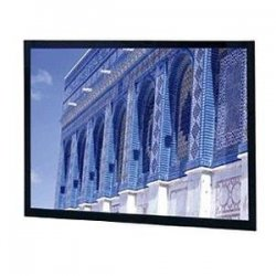 "Da-Lite - 78693 - Da-Lite Da-Snap Fixed Frame Projection Screen - 58"" x 104"" - Da-Mat - 119"" Diagonal"