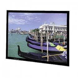"Da-Lite - 78679 - Da-Lite Perm-Wall Fixed Frame Projection Screen - 78"" x 139"" - Da-Mat - 159"" Diagonal"