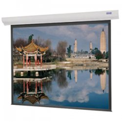 "Da-Lite - 92669W - Da-Lite Designer Contour Electrol Projection Screen With Built-in Infrared Remote - 69"" x 92"" - High Contrast Matte White - 120"" Diagonal"
