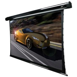 "Elite Screens - TE100HW2-E24 - Elite Screens TE100HW2-E24 CineTension2 Ceiling/Wall Mount Electric Tensioned Projection Screen (100"" 16:9 Aspect Ratio) (CineWhite) - 49"" x 87"" - CineWhite - 100"" Diagonal"