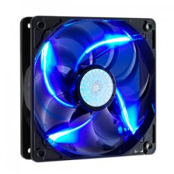 Cooler Master - R4-L2R-20AC-GP - Cooler Master SickleFlow 120 - Sleeve Bearing 120mm Blue LED Silent Fan for Computer Cases, CPU Coolers, and Radiators - Blue LED, 120x120x25 mm, 2000 RPM, 69 CFM air flow, 19 dBA noise level, 50000 hour life, Sleeve