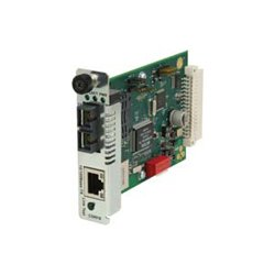 Transition Networks - CSRFB1014-100 - Transition Networks Point System CSRFB1014-100 Network Interface Device - 1 x RJ-45 , 1 x ST - 10/100Base-TX, 100Base-FX - Internal