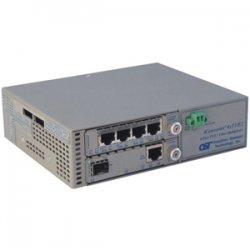 Omnitron - 8827-1-C - Omnitron Systems iConverter 4-Port T1/E1 Multiplexer - 4 x T1/E1 , 1 x 100Base-FX - 100Mbps Fast Ethernet, 1.544Mbps T1 , 2.048Mbps E1