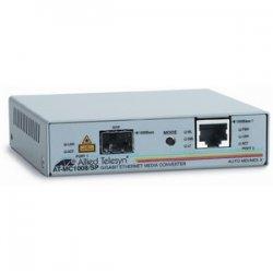 Allied Telesis - AT-MC1008/SP-60 - Allied Telesis AT-MC1008/SP Gigabit Ethernet Media Converter - 1 x RJ-45 - 1000Base-T, 1000Base-X - 1 x SFP (mini-GBIC) - External, Rack-mountable, Wall-mountable