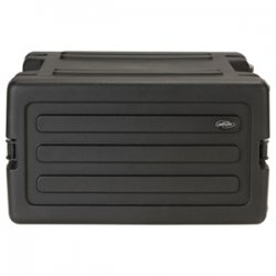 "SKB Cases - 1SKB-R6W - SKB 6U Roto Rolling Rack - Internal Dimensions: 19"" Width x 10.50"" Height - External Dimensions: 30.9"" Width x 28.3"" Depth x 23.3"" Height - 13.82 gal - Latching Closure - Black - For Audio Equipment"
