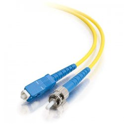 C2G (Cables To Go) - 34739 - 30m SC-ST 9/125 OS1 Simplex Singlemode PVC Fiber Optic Cable - Yellow - Fiber Optic for Network Device - SC Male - ST Male - 9/125 - Simplex Singlemode - OS1 - 30m - Yellow