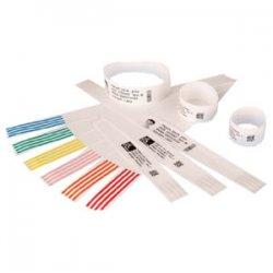 "Zebra Technologies - 10006995-3K - Zebra Wristband Polypropylene 1 x 11in Direct Thermal Zebra Z-Band Direct Green HC100 - 1"" Width x 11"" Length - 200/Cartridge - Permanent - 6 / Kit - Green"