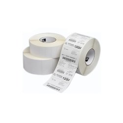 "Zebra Technologies - 10011975 - Zebra Z-Ultimate 2000T Thermal Label - Permanent Adhesive - ""1"" Width x 0.25"" Length - 16456 / Roll - 3"" Core - Thermal Transfer - White - Acrylic, Polyester - 4 / Roll"