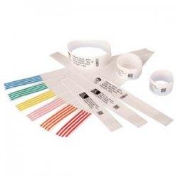 "Zebra Technologies - 10007003K - Zebra Wristband Polypropylene 1 x 7in Direct Thermal Zebra Z-Band QuickClip HC100 - 1"" Width x 7"" Length - 390/Roll - 1170 / Case - Black, White"