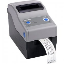 "Sato - WWCG40041 - Sato Compact CG208 Direct Thermal Printer - Monochrome - Desktop - Label Print - 2.20"" Print Width - 4 in/s Mono - 203 dpi - 8 MB - USB - Ethernet - 2.36"" Label Width - 23.62"" Label Length"