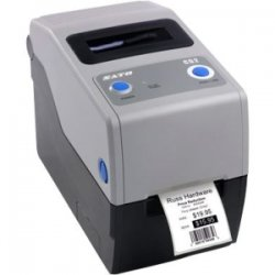 "Sato - WWCG20T41 - Sato Compact CG208 Thermal Transfer Printer - Monochrome - Desktop - RFID Label Print - 2.20"" Print Width - 4 in/s Mono - 203 dpi - 8 MB - USB - Ethernet - 2.36"" Label Width - 23.62"" Label Length"