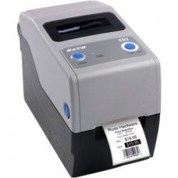 "Sato - WWCG20T31 - Sato Compact CG208 Thermal Transfer Printer - Monochrome - Desktop - RFID Label Print - 2.20"" Print Width - 4 in/s Mono - 203 dpi - 8 MB - USB - Serial - 2.36"" Label Width - 23.62"" Label Length"