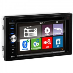 Boss Audio Systems - BV9366B - BOSS AUDIO BV9366B Double-DIN 6.2 inch Touchscreen DVD Player, Receiver, Bluetooth, Wireless Remote - Plays   CD?R/RW, DVD?R/RW, MP3/DVD/CD/USB/SD