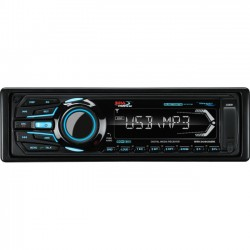 Boss Audio Systems - MR1308UABK - BOSS AUDIO MR1308UABK Marine Single-DIN MECH-LESS Multimedia Player (no CD or DVD), Receiver, Bluetooth, Detachable Front Panel, Wireless Remote - Plays   MP3/USB/SD