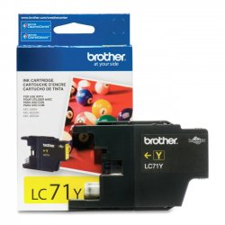 Brother International - LC71Y - Brother Innobella LC71Y Original Ink Cartridge - Inkjet - 300 Pages - Yellow - 1 Each