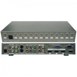 AITech - 07-033-003-12 - AITech HD PC Video to HDMI Switch - 3 x HDMI Video In, 1 x HDMI Video Out, 8 x RCA Audio Line In, 6 x RCA Component Video In, 2 x RCA Composite Video In, 2 x S-Video, 1 x HD-15 Video In - VGA, SXGA