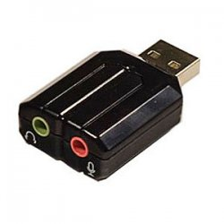 SYBA Multimedia - SD-CM-UAUD - SYBA Multimedia USB Stereo Audio Adapter - 1 x Type A Male USB - 2 x Mini-phone Female Audio