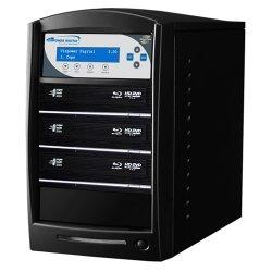 Vinotemp - SHARKNET-3T-BD-BK - Vinpower Digital SharkNet-3T-BD 1:3 BD/CD/DVD Duplicator - Standalone - BD-Writer - 8x BD-R, 8x BD-R, 16x DVD-R, 16x DVD+R, 4x DVD-R, 4x DVD+R, 32x CD-R - 2x BD-RE, 2x BD-RE, 6x DVD-R/RW, 8x DVD+R/RW, 32x CD-RW - USB