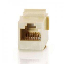 C2G (Cables To Go) - 03673 - C2G RJ12 6P6C Keystone Modular Insert Coupler - RJ-12 - Ivory