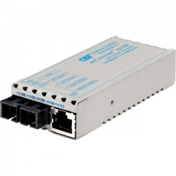 Omnitron - 1122-0-2 - miConverter 10/100 Plus Ethernet Fiber Media Converter RJ45 SC Multimode 5km - 1 x 10/100BASE-TX, 1 x 100BASE-FX, Univ. AC Powered, Lifetime Warranty