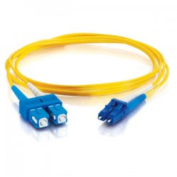 C2G (Cables To Go) - 14420 - C2G 6m LC-SC 9/125 OS1 Duplex Singlemode PVC Fiber Optic Cable (USA-Made) - Yellow - Fiber Optic for Network Device - LC Male - SC Male - 9/125 - Duplex Singlemode - OS1 - USA-Made - 6m - Yellow