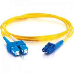 C2G (Cables To Go) - 14421 - C2G 7m LC-SC 9/125 OS1 Duplex Singlemode PVC Fiber Optic Cable (USA-Made) - Yellow - Fiber Optic for Network Device - LC Male - SC Male - 9/125 - Duplex Singlemode - OS1 - USA-Made - 7m - Yellow