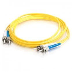 C2G (Cables To Go) - 14431 - C2G 2m ST-ST 9/125 OS1 Duplex Singlemode PVC Fiber Optic Cable (USA-Made) - Yellow - Fiber Optic for Network Device - ST Male - ST Male - 9/125 - Duplex Singlemode - OS1 - USA-Made - 2m - Yellow