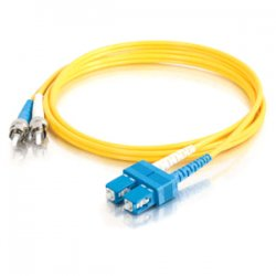 C2G (Cables To Go) - 14445 - C2G 1m SC-ST 9/125 OS1 Duplex Singlemode PVC Fiber Optic Cable (USA-Made) - Yellow - Fiber Optic for Network Device - SC Male - ST Male - 9/125 - Duplex Singlemode - OS1 - USA-Made - 1m - Yellow