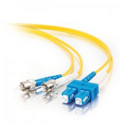 C2G (Cables To Go) / Legrand - 14448 - C2G 4m SC-ST 9/125 OS1 Duplex Singlemode PVC Fiber Optic Cable (USA-Made) - Yellow - Fiber Optic for Network Device - SC Male - ST Male - 9/125 - Duplex Singlemode - OS1 - USA-Made - 4m - Yellow