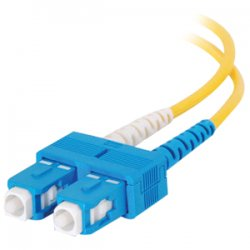 C2G (Cables To Go) - 14463 - C2G 4m SC-SC 9/125 OS1 Duplex Singlemode PVC Fiber Optic Cable (USA-Made) - Yellow - Fiber Optic for Network Device - SC Male - SC Male - 9/125 - Duplex Singlemode - OS1 - USA-Made - 4m - Yellow