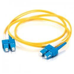 C2G (Cables To Go) - 14467 - C2G 8m SC-SC 9/125 OS1 Duplex Singlemode PVC Fiber Optic Cable (USA-Made) - Yellow - Fiber Optic for Network Device - SC Male - SC Male - 9/125 - Duplex Singlemode - OS1 - USA-Made - 8m - Yellow