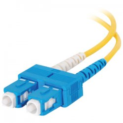 C2G (Cables To Go) - 14468 - C2G 9m SC-SC 9/125 OS1 Duplex Singlemode PVC Fiber Optic Cable (USA-Made) - Yellow - Fiber Optic for Network Device - SC Male - SC Male - 9/125 - Duplex Singlemode - OS1 - USA-Made - 9m - Yellow