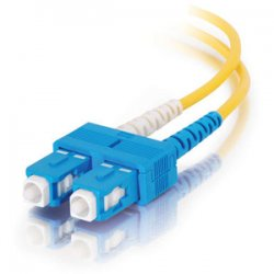 C2G (Cables To Go) - 14472 - C2G 30m SC-SC 9/125 OS1 Duplex Singlemode PVC Fiber Optic Cable (USA-Made) - Yellow - Fiber Optic for Network Device - SC Male - SC Male - 9/125 - Duplex Singlemode - OS1 - USA-Made - 30m - Yellow